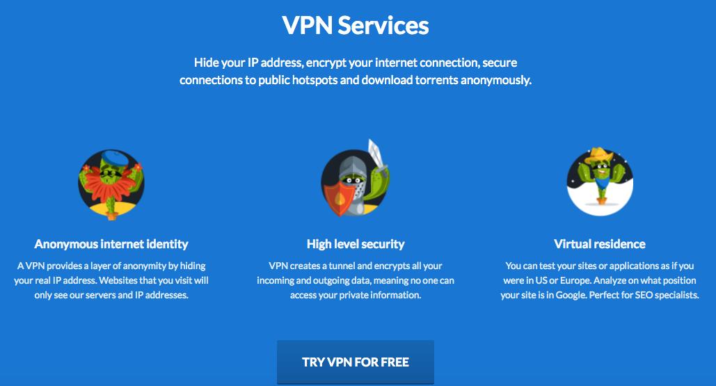 CactusVPN Services