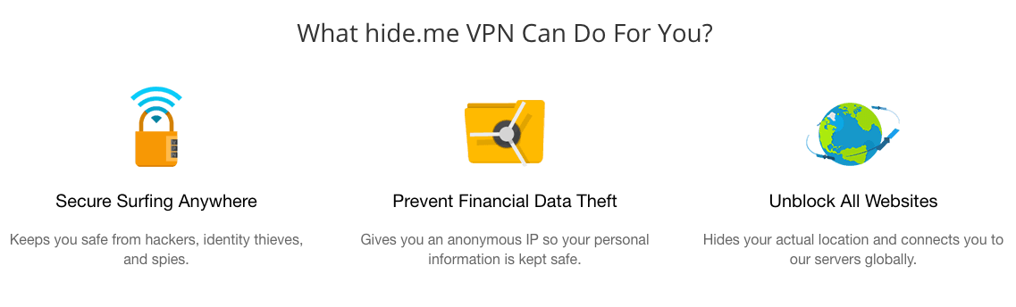 HideMe VPN review and features