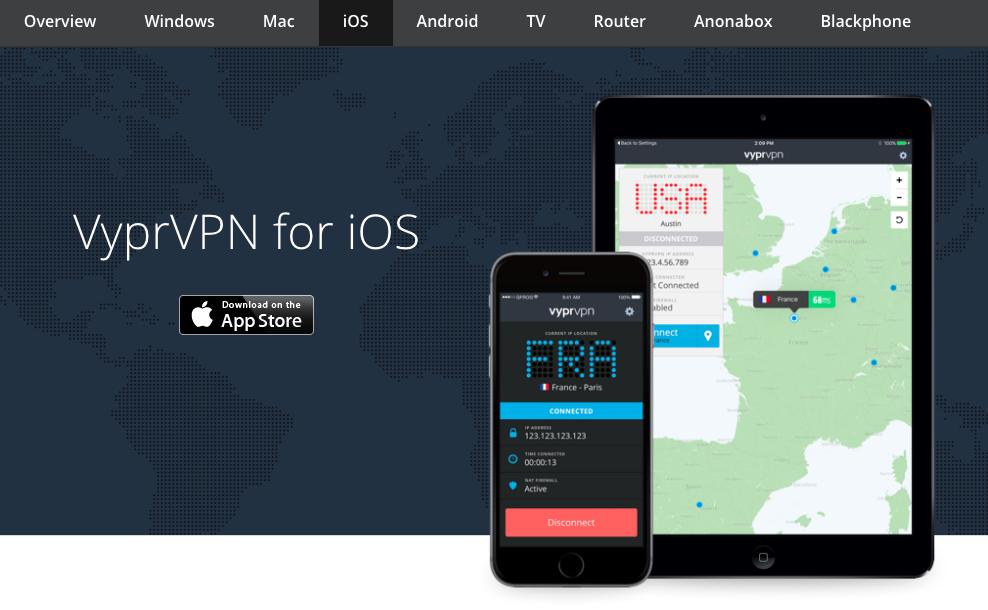 VyprVPN mobile app