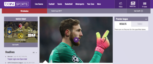 Watch beIN Sports live stream from anywhere