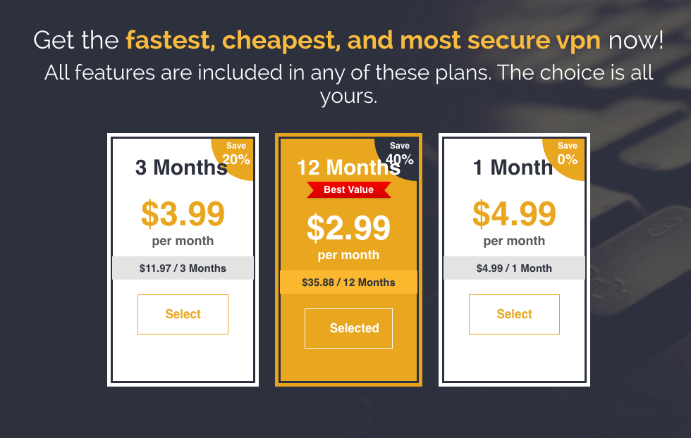 FrootVPN Pricing