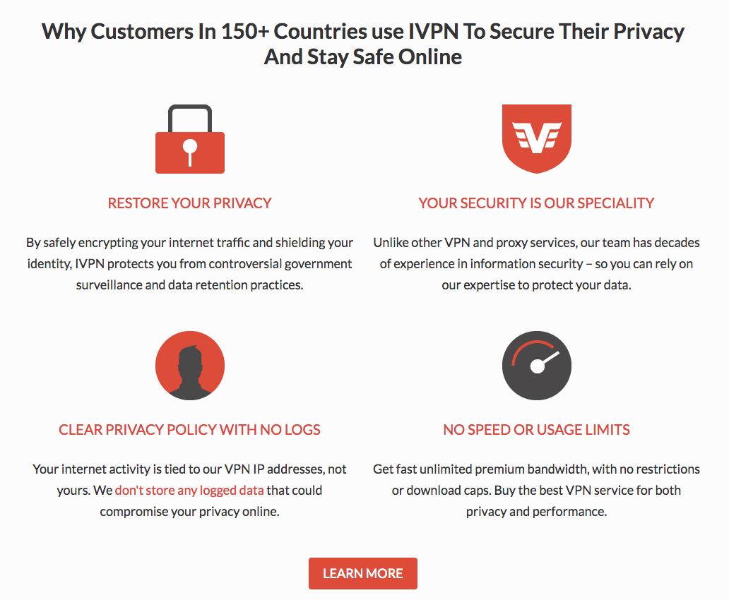 IVPN Features