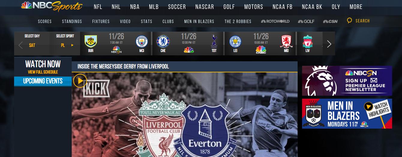 Premier League live stream on NBC Sports