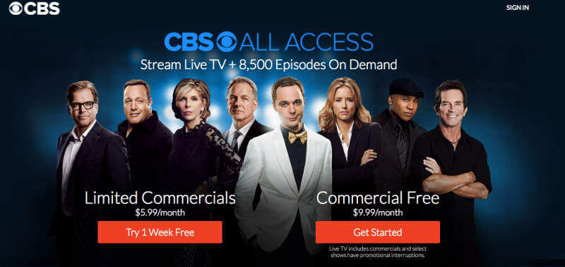 Stream live TV on CBS All Access