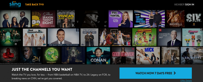 Sling TV is one of the best TV alternatives available in the USA