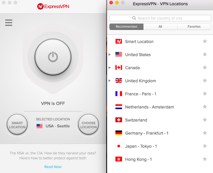 ExpressVPN Server Location List