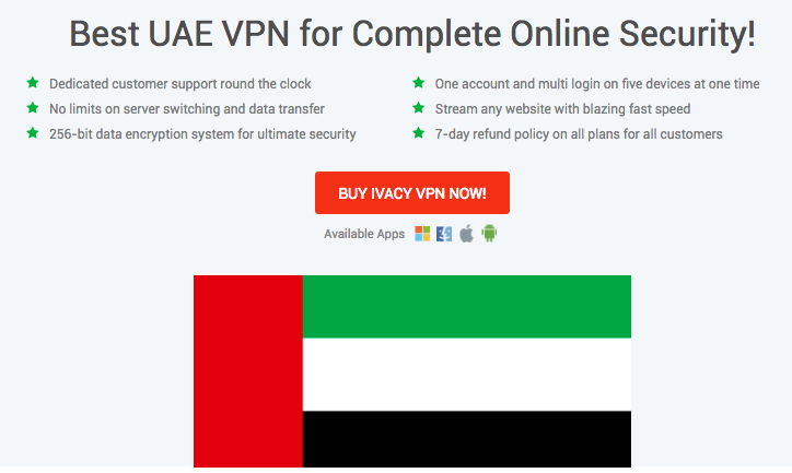 Get UAE IP Address with Ivacy VPN
