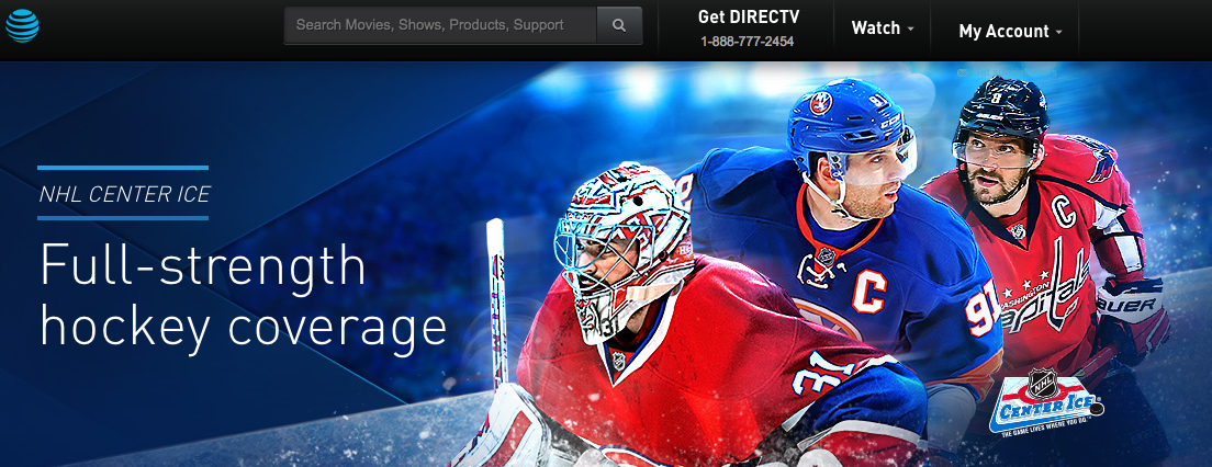 Stream NHL Playoffs Live on DIRECTV NOW