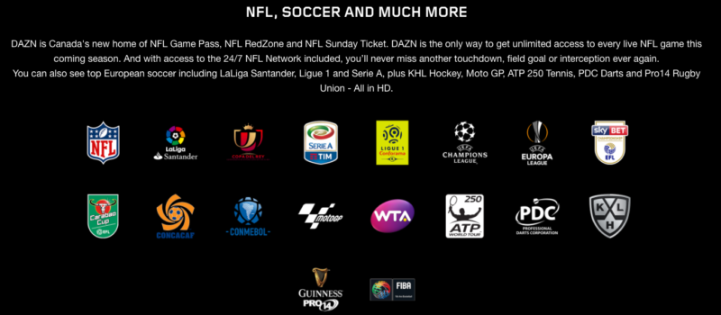 Unblock DAZN Canada Sport Streaming